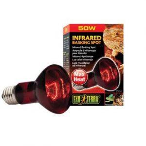 exo terra lámpara infra-rojos para terrario